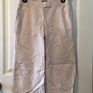 Tan white striped J.Crew size 2 city fit pants